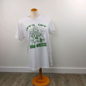 ST. PATTYS - LET'S GET SHAM-WRECKED T SHIRT